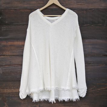 oversize thermal sweater - off white
