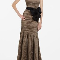 BCBGMAXAZRIA - SHOP BY CATEGORY: DRESSES: VIEW ALL: TANA METAL TAFFETA EVENING GOWN