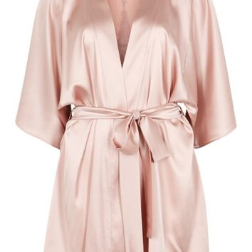 Fleur Of England Affection blush stretch silk robe