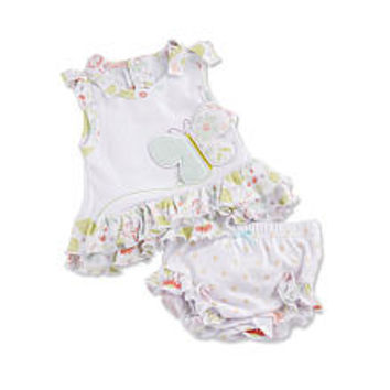 Baby Aspen Girls Butterfly Kisses Tunic and Bloomer Set