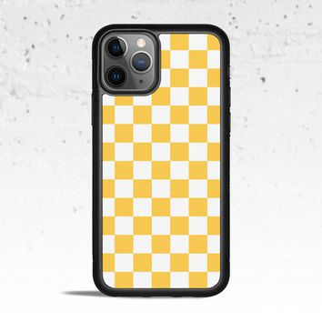 Checkerboard Yellow Phone Case Cover for Apple iPhone Samsung Galaxy S & Note