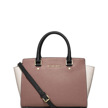 Selma Medium Tricolor Satchel Bag - MICHAEL Michael Kors