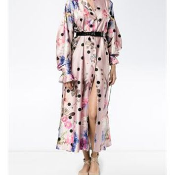NATASHA ZINKO | Floral Print Midi Kaftan Dress | Womenswear | Browns Fashion