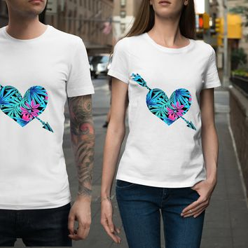 Tropical Heart w Arrow Unisex Shirt