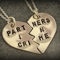 Partners in Crime Necklaces  Best Friend Jewelry by SometimesTwice