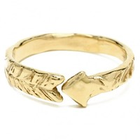 Odette New York -  Arrow Ring: Recycled Brass