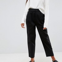 ASOS Tapered High Waist Chino Pants with Belt at asos.com