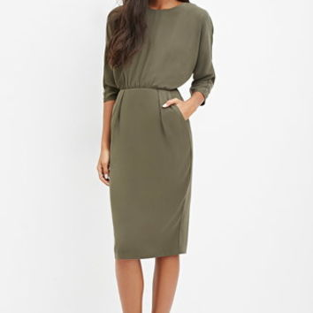Cutout-Back Dolman Dress