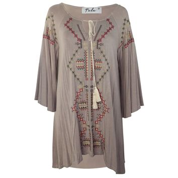 Aztec Ethnic Tunic Dress