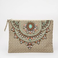 Star Mela Arla Embellished Clutch