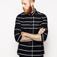 ASOS | ASOS Shirt In Long Sleeve With Stripe Oxford at ASOS