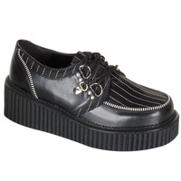 Demonia Black Pinstripe Two Inch Creepers