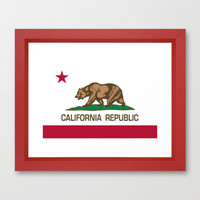 California Republic state flag - Authentic Version Framed Art Print by LonestarDesigns2020 - Flags Designs +