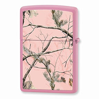 Zippo Realtree APG Pink Camouflage Pink Matte Lighter
