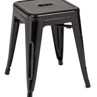 "Work Smart™ / OSP Designs Patterson 18"" Metal Backless Stool in Black Solid Finish, Fully Assembled, 2-Pack"