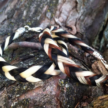 Chevron braid horse hair bracelet by Equine Keepsakes