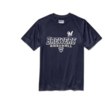 Under Armour Boys' Milwaukee Brewers UA Tech T-Shirt
