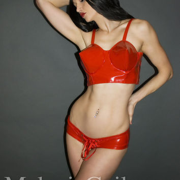 Bullet Cone Bra Corset Top and Panties Pinup by MGDclothing