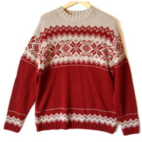 Nordic Snowflake Men's Ugly Ski Sweater
