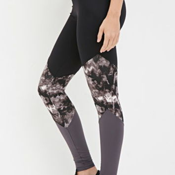 Abstract Paneled Athletic Leggings