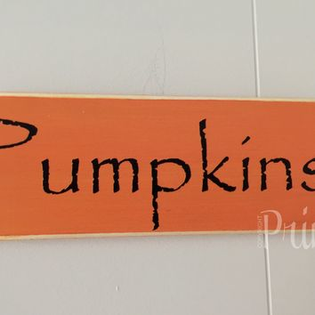 10x4 Pumpkins Wood Sign