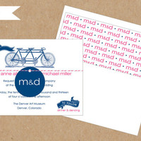 Tandem Bicycle Wedding Invitation Collection