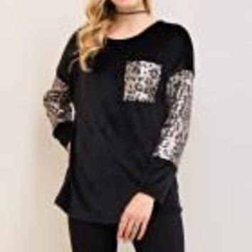 Black Velour with cheetcha sequin