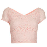 Tall Lace Crop Top