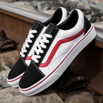 Trendsetter Vans Classics Old Skool Canvas Flat Sneakers Sport Shoes