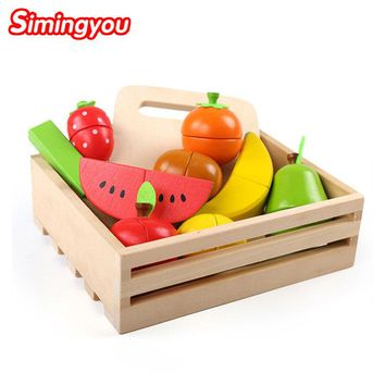 Simingyou Learning Education Wooden Toys Fruit Cut Music Boxed Montessori Educational Wooden Toys B40-A-98 Drop Shipping