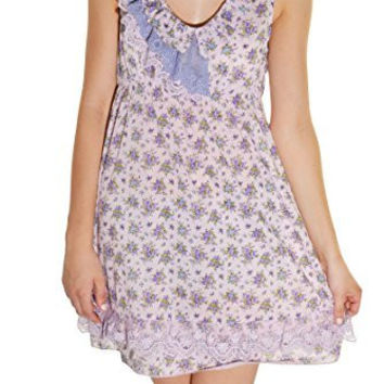Calico Lace Country Floral Dress (Purple Lavendar)