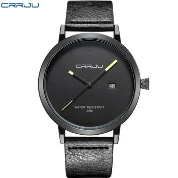 2016 New Luxury Brand CRRJU Men Watches Fashion Casual Men Watches Analog Army Military Sports Watch Quartz Male Wrist watches