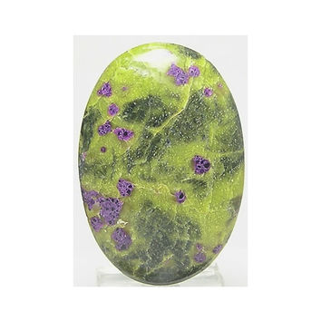 Purple Stichtite Brilliant Pistachio green Serpentine Atlantisite Rare Stone Flat Back Oval Cabochon Loose Semi Precious Jewel