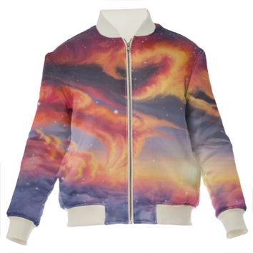 Eternal shining Silk bomber jacket