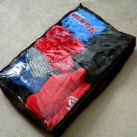 "Underbed Zippered Storage Bag Blankets Clothes Shoes-18"" x 30"" x 6"""