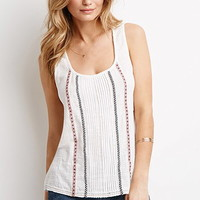 Pintucked Cord Trim Top
