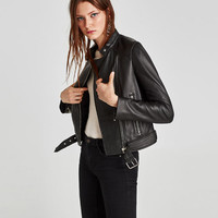 LEATHER MOTORCYCLE JACKET DETAILS