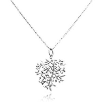 Sterling Silver Olive Leaf Charm Necklace