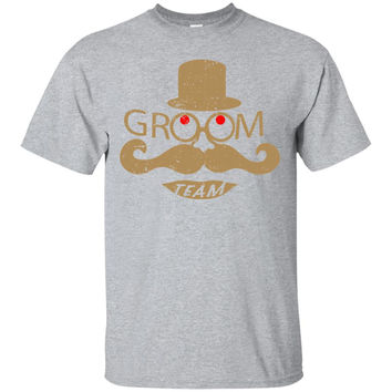Groom Team Mustache And Top Hat Wedding Bachelor Party