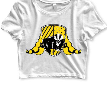 Harry Potter Hufflepuff Womens Crop T Shirt