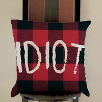5 Second of summer Idiot motif Pillow, Pillow Case, Pillow Cover, 16 x 16 Inch One Side, 16 x 16 Inch Two Side, 18 x 18 Inch One Side, 18 x 18 Inch Two Side, 20 x 20 Inch One Side, 20 x 20 Inch Two Side