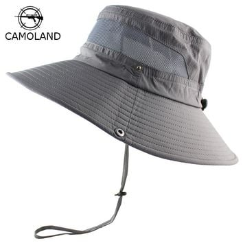 UPF 50+ Sun Hat Bucket Summer Men Women Fishing Boonie Hat Sun UV Protection Long Large Wide Brim Bob Hiking Outdoor Beach Cap