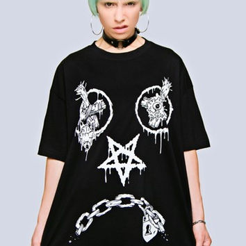 Long Clothing x Mishka Collaboration Oversize Vex Tee - Unisex