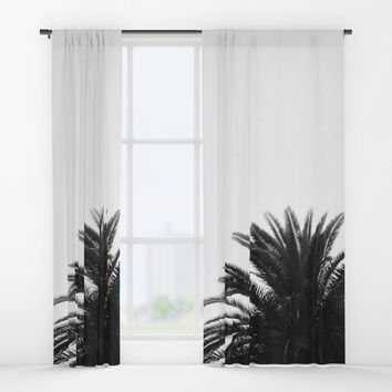 Palm tree Window Curtains by ARTbyJWP