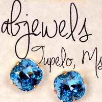 Ultra Blue Glitz Earrings
