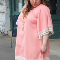 Blushed in Lace Tunic/Dress {Curvy}