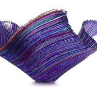 LARGE GLASS FIBER BASKETS | Colorful, Handcrafted, Flowing Curves Glass Bowl Perfect for Potpourri, Candy or Candles | UncommonGoods