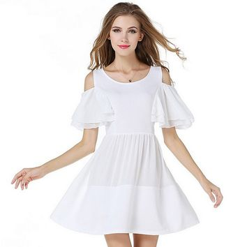 Puff Sleeve Chiffon Princess Dress