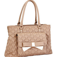 BE MINE FOREVER EAST WEST TOTE: Betsey Johnson