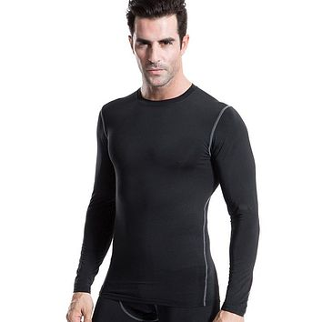 Men Jerseys PRO Compression Body Base Layer Thermal T-Shirts Tops bodybuilding Skin Gear Quick Dry Clothes